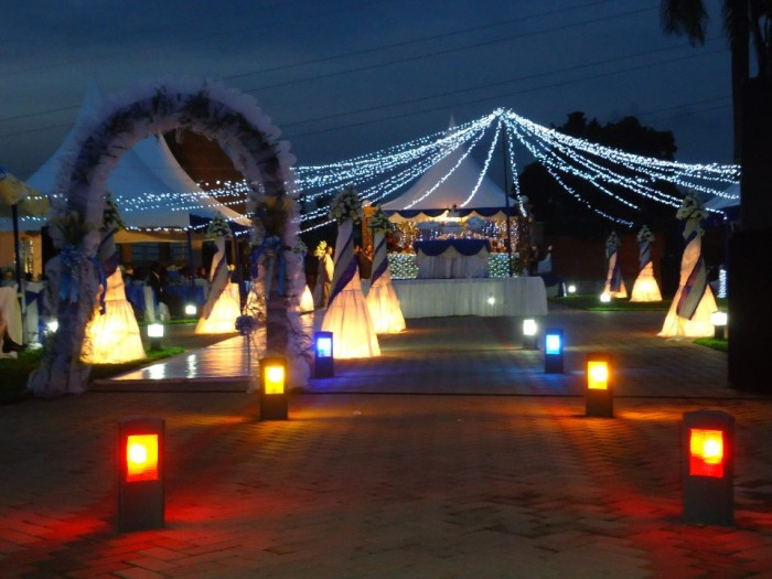 Lighting canopies at Mawanda Royal Gardens