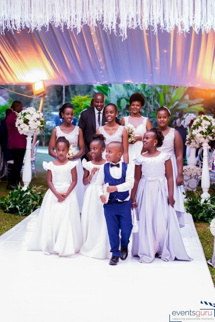 Joshua & Odetta long with their entourage, moments by Events Guru Photography