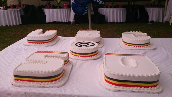 UBC at 50 celebrations, cake by Real Cakes Uganda