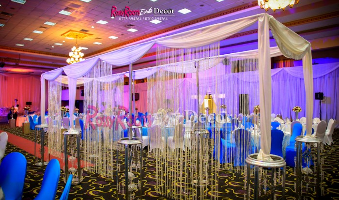 Breathtaking wedding decorations at Hotel Africana in Kampala by Rossy Roots Events