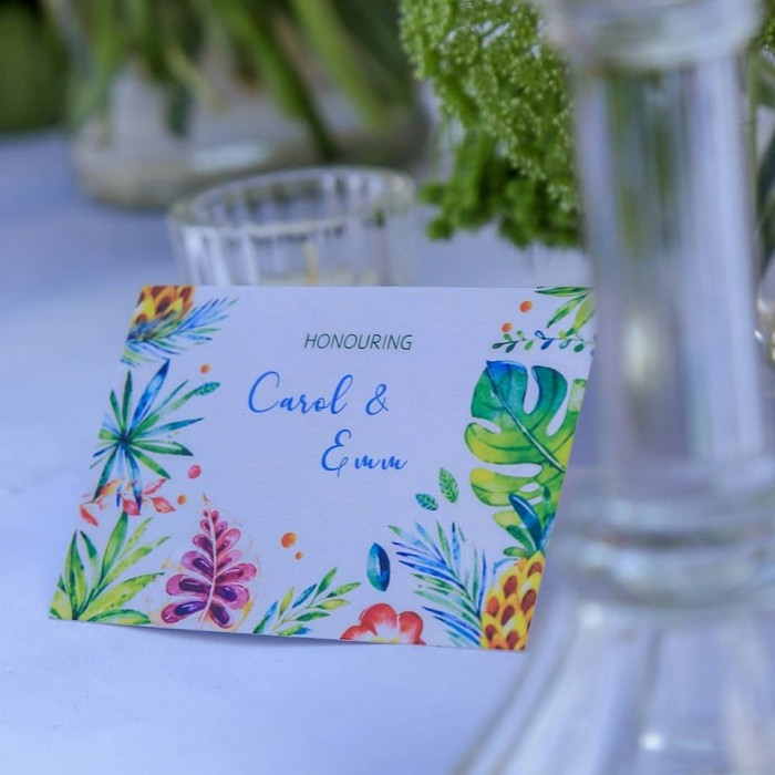 Honouring Carol & Emm at Kaazi Beach Resort, Decor by Eventique