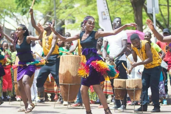 Nyange Cultural Performers performing at the 2017 Kampala Capital City Festival