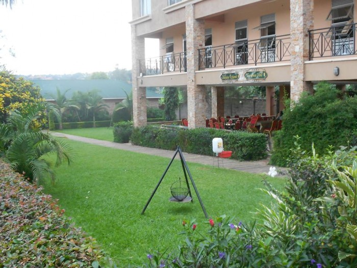 The greenery at Green valley hotel, Ggaba
