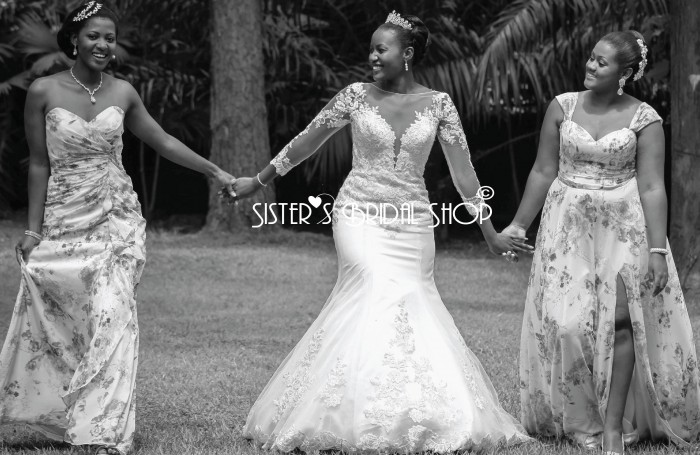 Bridal gowns and Maid dresses from Sisters Bridal Shop