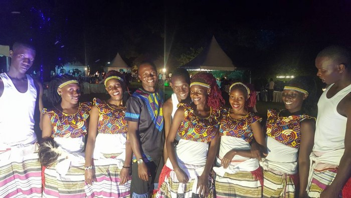 Members of The Dance N' Beats Cultural Troupe at Serena Hotel Kampala