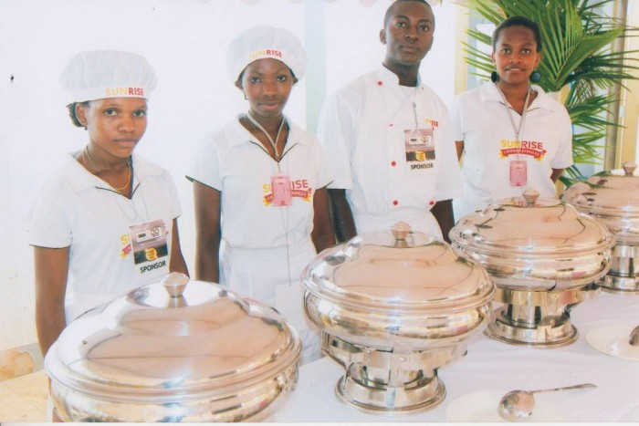 A team from Sunrise Catering Services Limited
