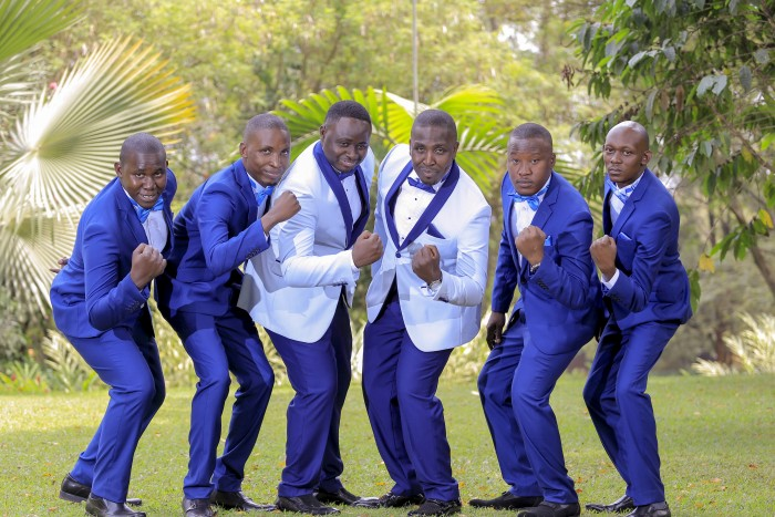 Charles and his groomsmen at a wedding photo shoot powered by Rossy Roots Photography