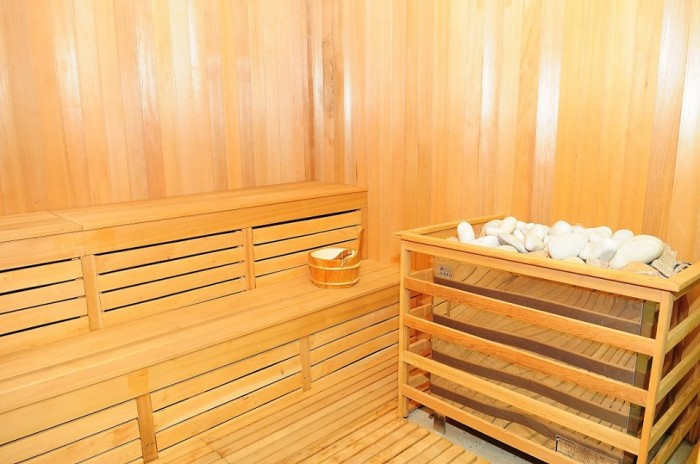 The sauna at Silver Springs Hotel