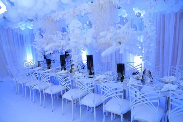 White & black themed decor at SUKI's 10th Anniversary