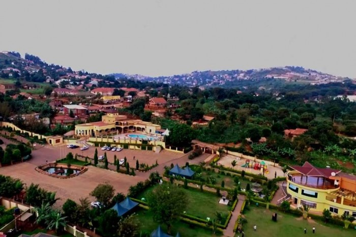 An aerial view of Nican Resort In Entebbe