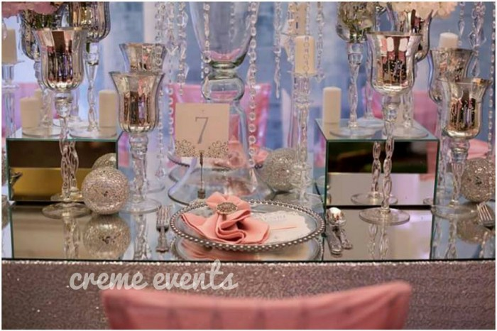 Intimate dinner settings by Creme Events