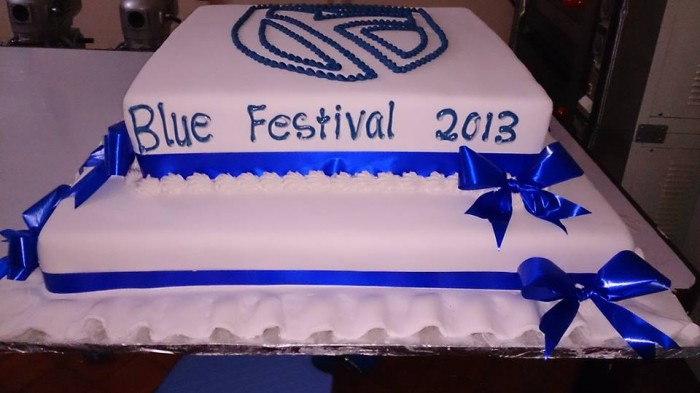 The Blue Festival cake baked by Real Cakes Uganda