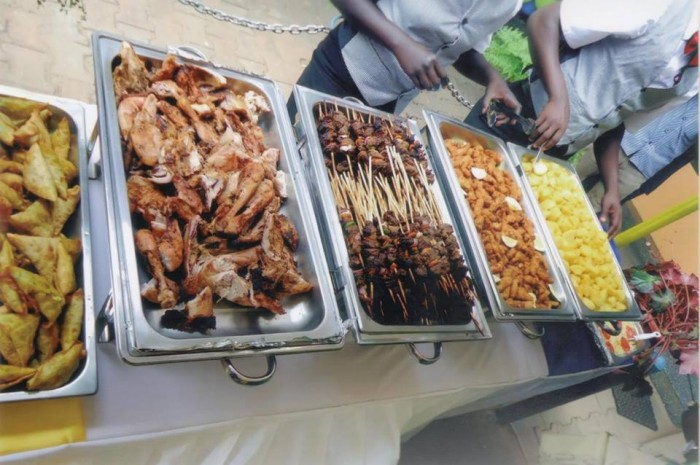 Variety of food including muchomo served by Events Catering Limited