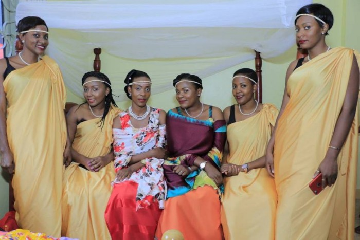 A bride and her maids dressed by My Kuhingira Collection