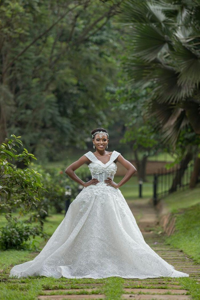 Beautiful Cinderella gown with 3D lace and intricate detail from the Exquisite Diva collection