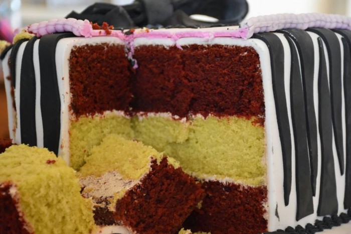 A three layer flavoured cakes from Sarahs Cakes