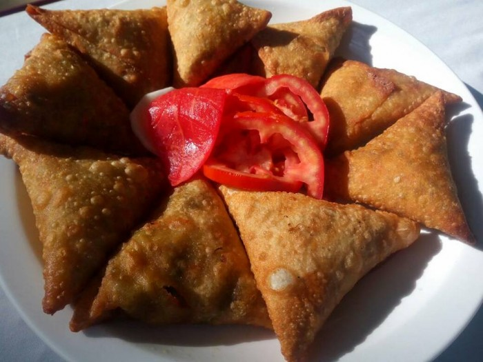 Samosa snacks by Hotel International in Muyenga