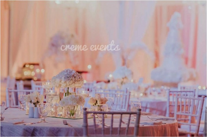 All White wedding Decor by Creme Events