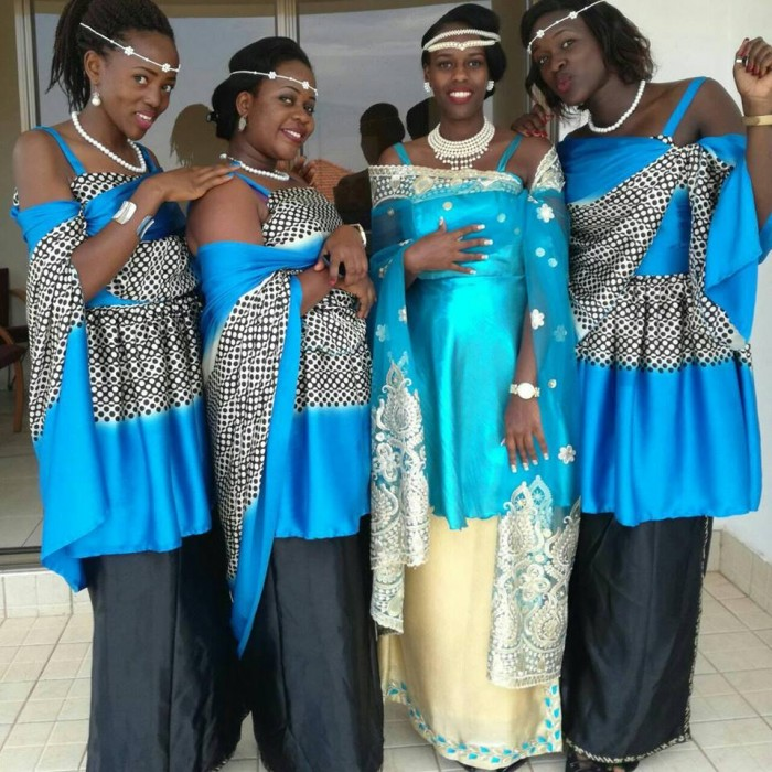 A bride and her friends cloaked in mishanana from My Kuhigira Collection