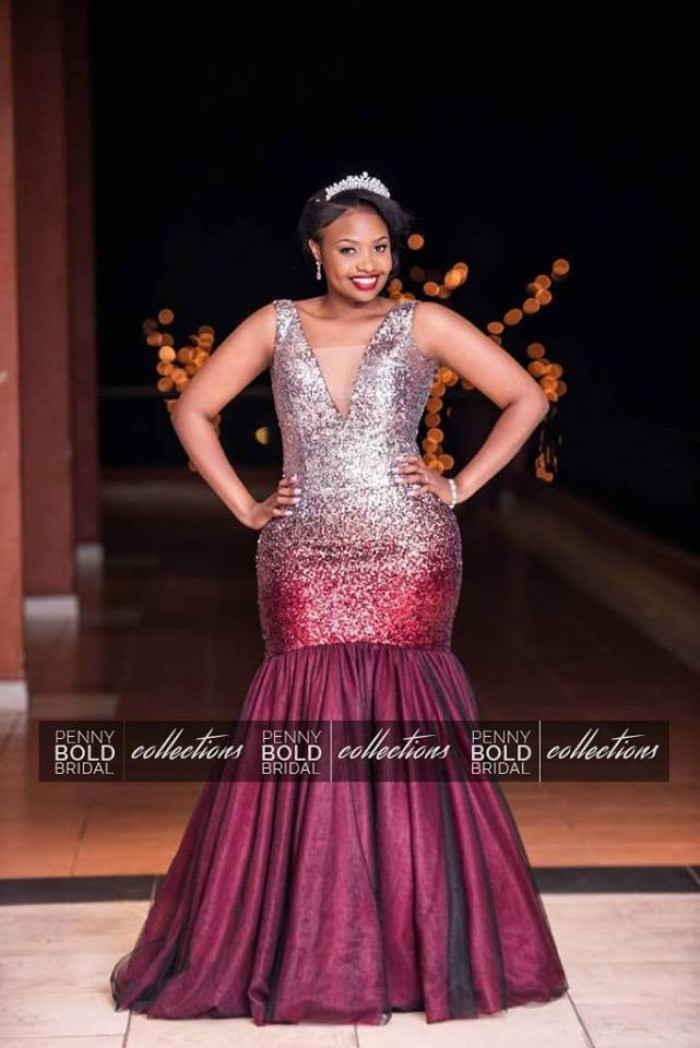 Patience looked glamorous in this perfectly changing dress by Penny Bold