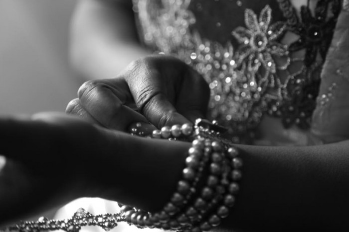 Arm wrist pearls, photo by Solvers
