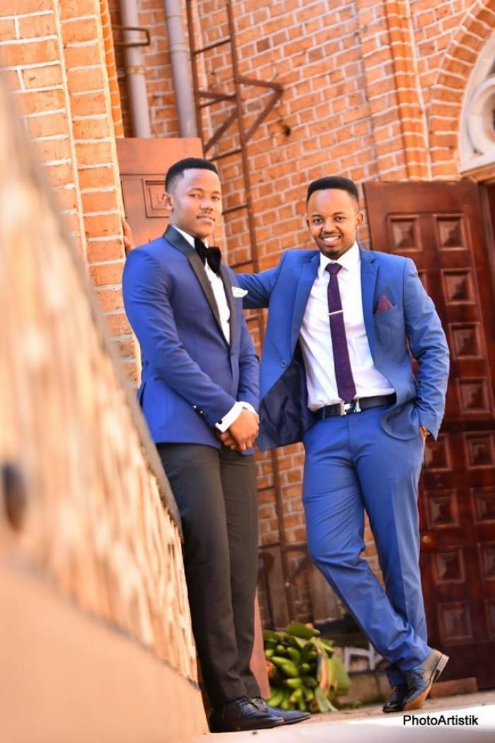 Handsome Ugandan groomsmen captured by Photo Artistik