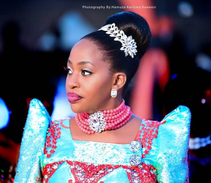 A dazzling bride at an introduction ceremony covered by Hamuza Karizma Kaweesi