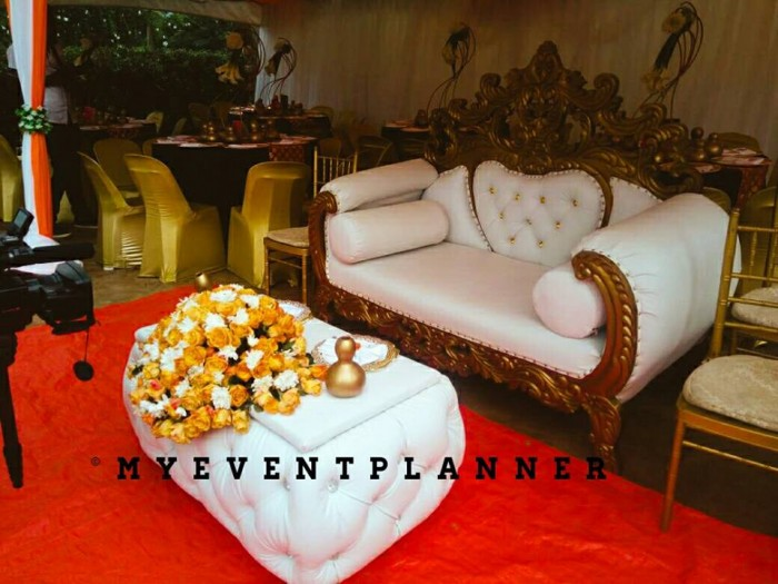 Kwanjula Bridal Chair Setup by My Event Planner