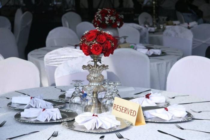 Wedding decorations from Steve and Koina's big day by Henhar Services