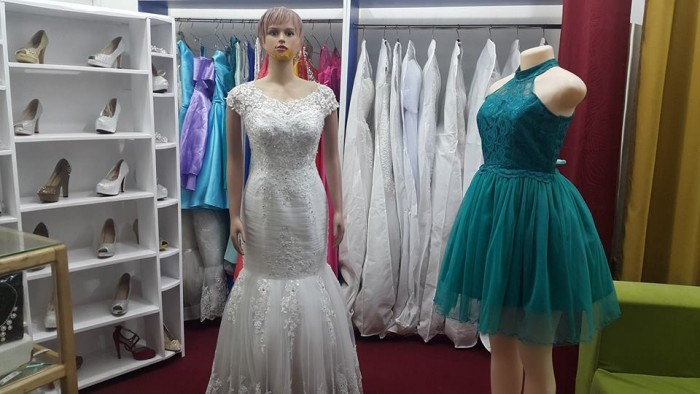 Inside Destiny bridals boutique