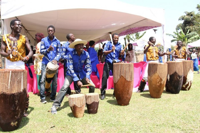 The Nyange Cultural Performers drummers