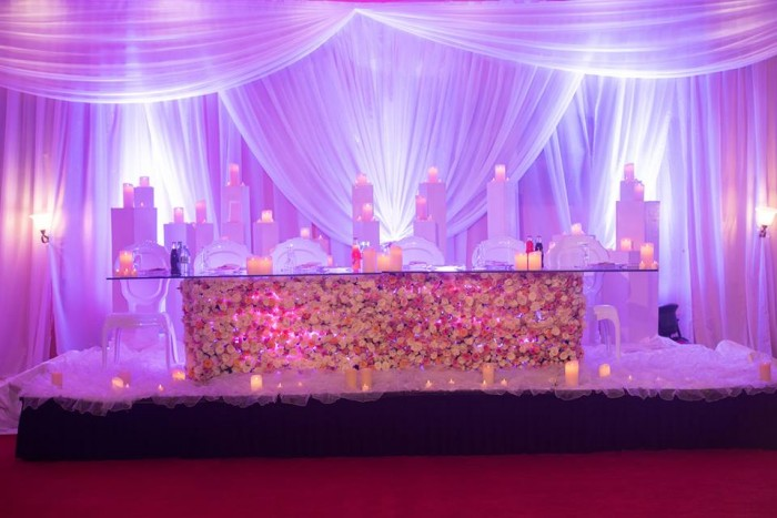 Exhilarating wedding decorations by Lega Events