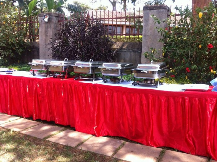 Chafing dishes to keep the food warm Events Catering Limited
