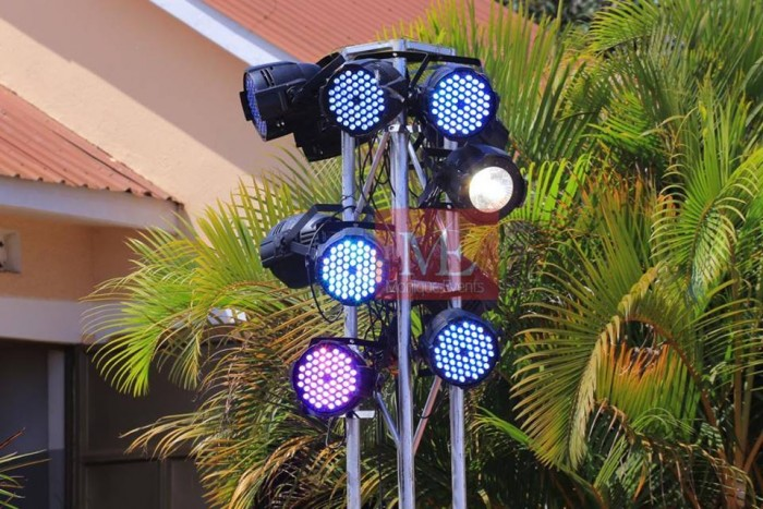 Event lights from Monique Events Uganda