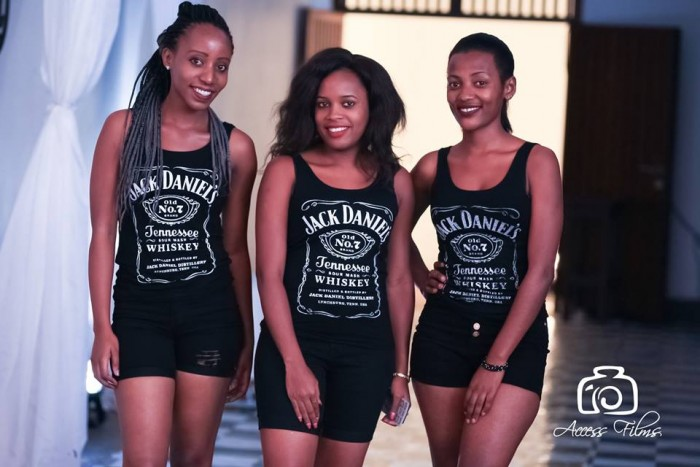 Beautiful girls at the Jack Daniels whiskey party in Kampala, shots by Access Films