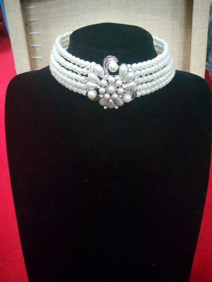 A pearl necklace from Bride to be