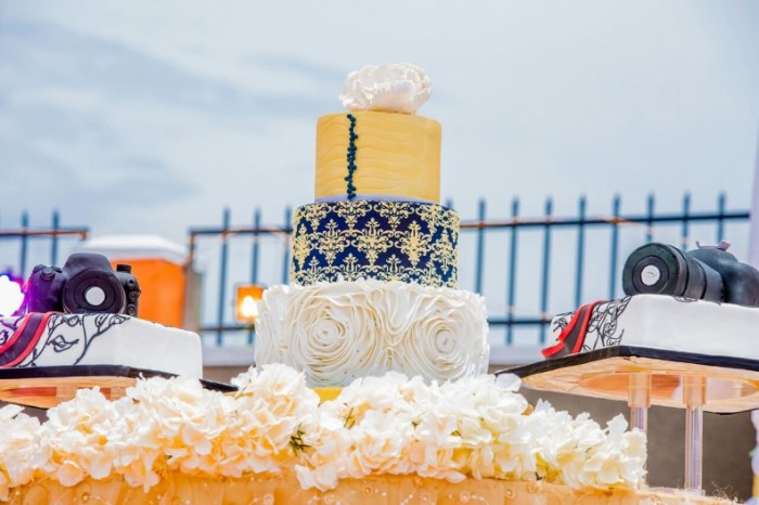 Muhammad Katende & Zamara Twaha's customary wedding cake