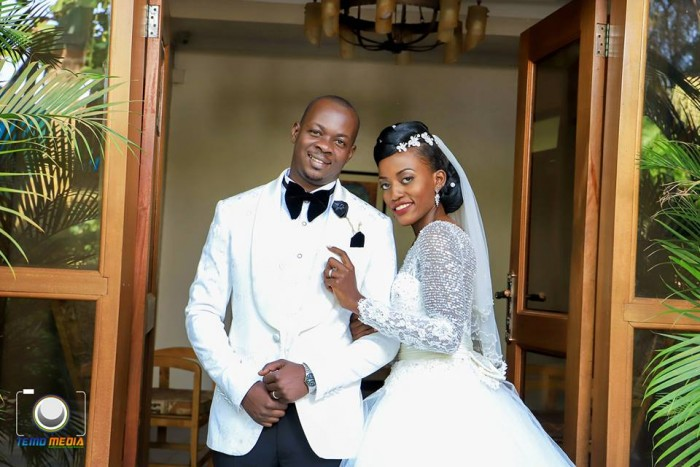 Richard and Esther on their wedding day, powered by Temo Media