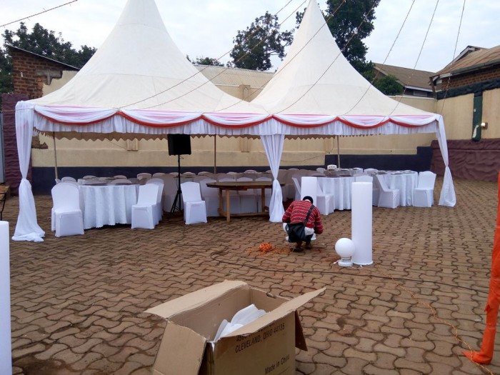 A tent and seat supplied by Mr Events
