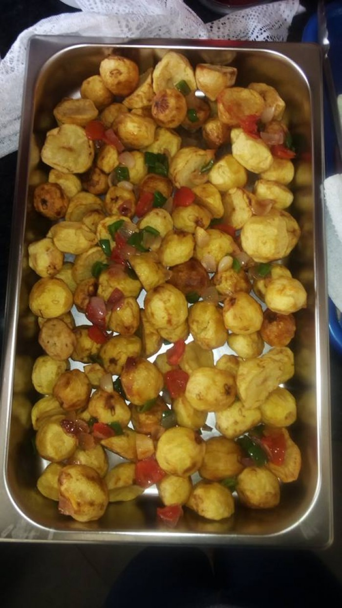 Fried irsh potatoes by Tasty Planet Catering Services