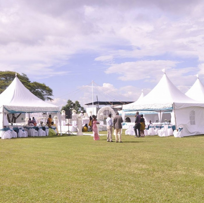 A well setup outdoor wedding venue, Gerry Wedding Planners