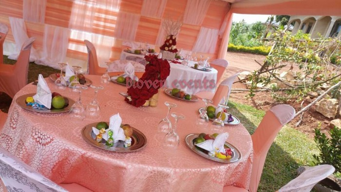 Simple out door kukyala tent Decor by Bloven Events