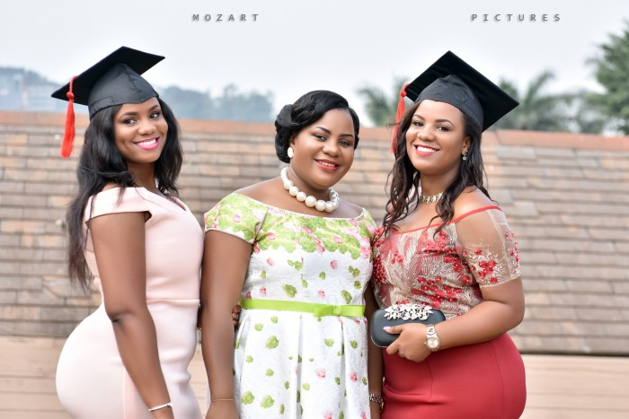 Nyakato Marry and her twin sister's graduation photo shoot by Mozart Pictures