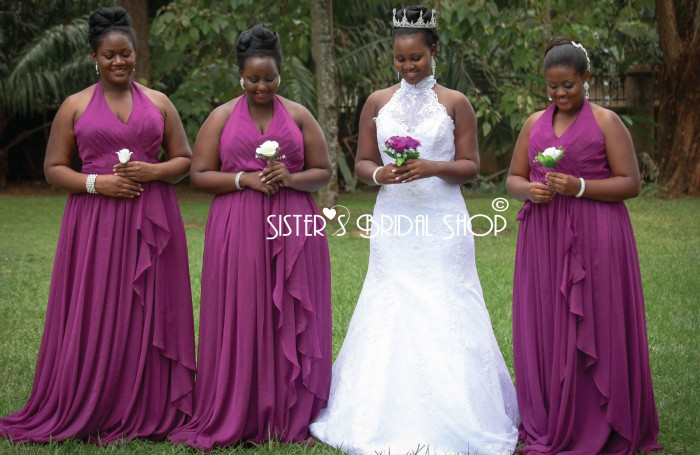 The color purple has been associated with royalty for centuries. What is the dream color for your bridesmaids dresses?