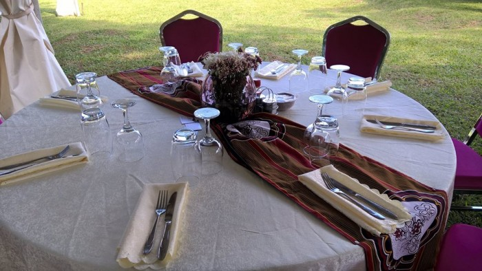 Cutlery and glasses from Mapenzi Events