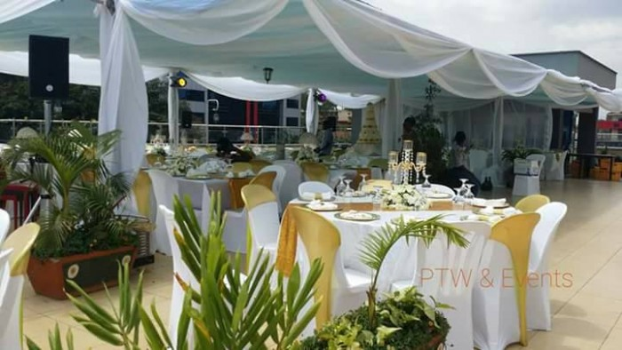 Venue set up for Persis and Anthony's wedding organised by PTW & Events