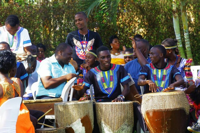 Drummers of The Dance N' Beats Cultural Troupe