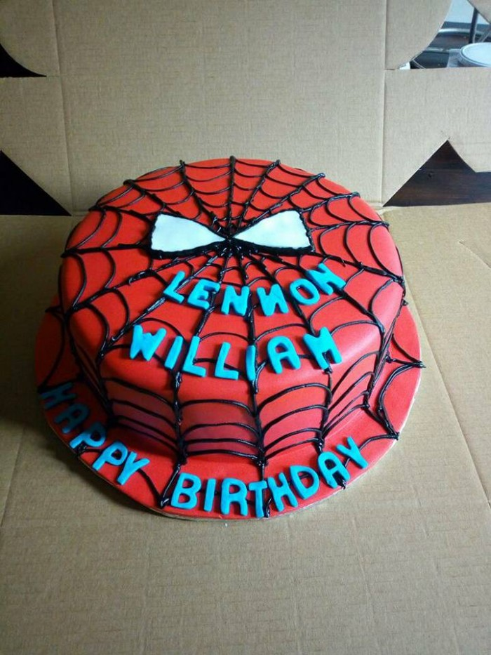 Lennoh's spiderman inspired birthday cake from Danse Pastries Uganda