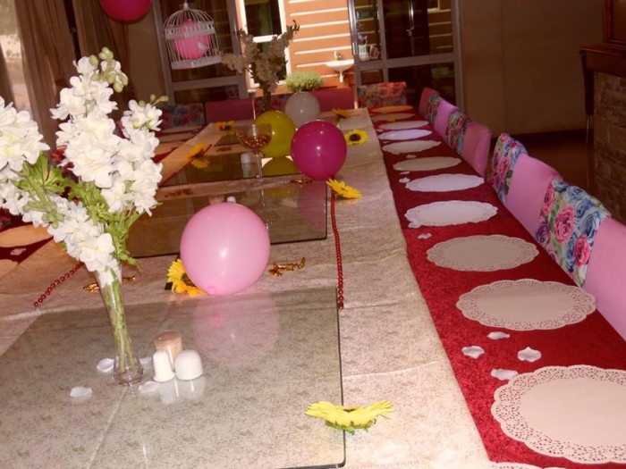 Baby Shower Decor Set up at Casa Miltu Hotel