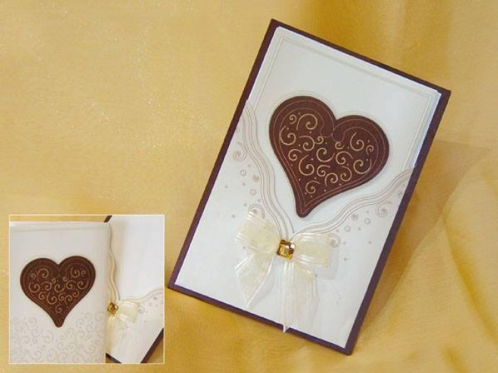 A nice wedding invitation card, made by Chic Designs